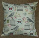 "Cushion Cover in Clarke & Clarke Melodie Bird Birdcage Butterfly 14"" 16"" 18"" 20"""